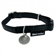 COLLIER REGLABLE MAC LEATHER 15 MM NOIR ZOLUX